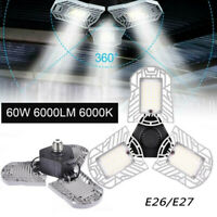 60W LED Hallenleuchte Verformbare Einstellbar Licht Strahler Garage Hallenfluter