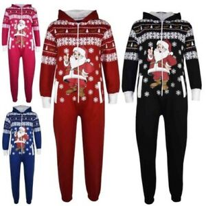 Kids Girls Boys Novelty Christmas Santa Fleece A2Z Onesie One Piece Jumpsuit5-13