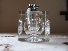 "Vintage Heavy Glass 21/2"" Refillable Butane Functional Cigarette Lighter ""as is"""