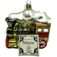 Polonaise Large Locomotive Train Christmas Tree Ornament Kurt Adler Polish Glass