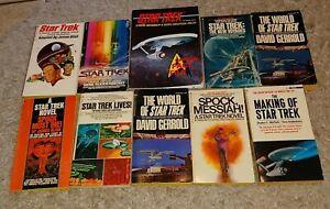 book lot Star Trek Novels vtg printing MAKING IF MOVIE Spock VAYAGES crew member