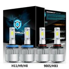2 Pair 9005 + H11 Combo Total 4000W 600000LM LED Headlight Kit Light Bulbs 6000K
