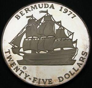 BERMUDA 25 Dollars 1977 CHI Proof - Silver - Silver Jubilee - Elizabeth II. - M*