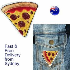 Pizza piece iron on patch Delicious Italian fast food dominos Italy bake patches