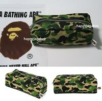 * A BATHING APE GOODS ABC FLIGHT POUCH Green From Japan New