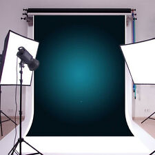 Gradient Pure Dark Blue Photography Backgrounds 5x6.5ft Vinyl Photo Backdrops