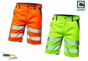 Elysee Warnschutz Shorts kurze Arbeitshose aus Warnschutzgewebe orange und gelb