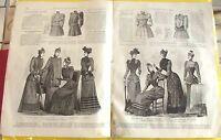 LE MONITEUR DE LA MODE N°42 17/10/1891 TOILETTE DE PROMENADE