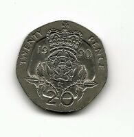 World Coins - UK Great Britain 20 Pence 1990 Coin KM# 939