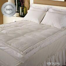 "5"" Down Mattress Topper Goose Feather Bed Queen Super Soft PillowTop 100% Cotton"