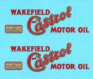Hornby O Gauge Tanker | Wakefield Castrol Motor Oil | Waterslide Transfer Decal