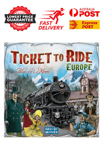 Days of Wonder Ticket to Ride Board Game Europe Edition Main Game