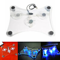 3 Fans USB  LED Light Cooler Cooling Pad Stand Radiator for Laptop PC Notebook