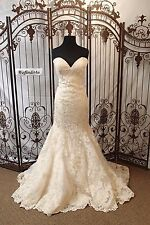 PJ92 MAGGIE SOTTERO IV GOLD  SZ 12 $1600   WEDDING GOWN DRESS