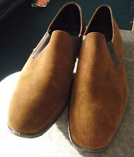 BRUSH PIGGIES - MENS BROWN SUEDE SHOES - SIZE 8 - PIG SKIN SHOE - BRAND NEW