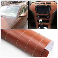 Car Auto Interior Trim Panel 3D Leather Texture Sheet Film Sticker Vinyl Brown