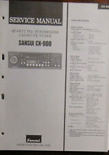 Sansui CX-900 in-car head unit service repair workshop manual (original copy)