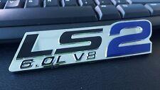 HOLDEN CHEV LS2 , 6.0 V8 BADGE DECAL COMMODORE HSV BLUE  vt vx vy vz