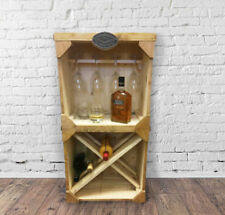 Wine Rack Solid Wooden Rustic Reclaimed Timber Wine Rack Drinks Cabinet Storage