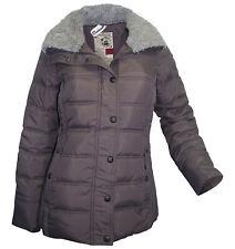 DREIMASTER Steppjacke S 36 dunkelgrau Winter Jacke Webfell-Kragen warm