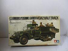 1/35 SCALE TAMIYA U.S. ARMOURED PERSONEEL CARRIER M3A2 HALFTRACK MODEL KIT
