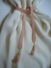 Beautiful Antique 1920'S Hand Crocheted Peach Pink Lingerie Belt Sash