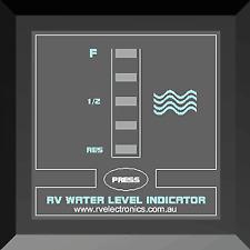 Water Tank Level Indicator Motorhome Caravan RV Boat Single Gauge Meter Black