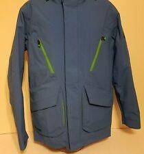 Burton Snowboard Dry Ride winter coat jacket Size Medium Blue w/green trim