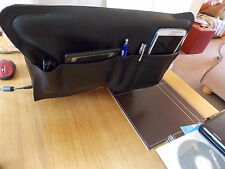 Luxury Leather Laptop Space Saver/Tidy Case Storage Holder Colour Black Free P&P