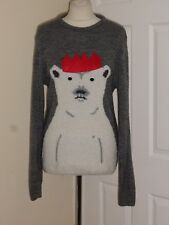 3c320c78e7 New listingRiver Island Christmas Wool Blend Cute Bear Jumper Size S