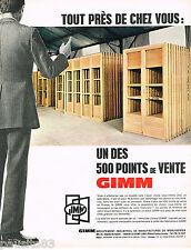 PUBLICITE ADVERTISING 065  1967  GIMM  menuiseries portes &  fenetres