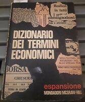 1970 - ECONOMIA - DIZIONARIO DEI TERMINI ECONOMICI