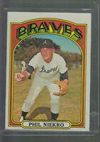 1972 TOPPS #620 PHIL NIEKRO ATLANTA BRAVES BK$12.00 F