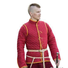 Thick Padded Medieval Gambeson Red costumes suit of armor for theater larp