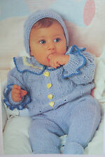 Baby Girls Cardigan, Trousers, Hat and Bootees Knitting and Crochet Pattern