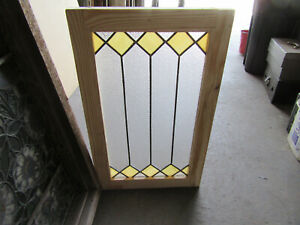 ~ ANTIQUE STAINED GLASS WINDOW ~ 18 X 29 ~ ARCHITECTURAL SALVAGE