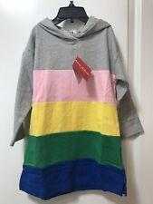 Nwt Hanna Andersson 100 4 Girl Hooded Hoodie Sweater Dress Stripe Sweatshirt