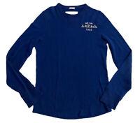 Abercrombie & Fitch Men's V Neck Blue Small 100% Cotton