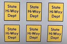 Replacement Vinyl Decals Stickers for State Hi-Way Highway Dept Tonka Truck