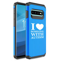 For Samsung Galaxy Shockproof Protective Hard Case I Love Someone With Autism