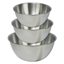 Dexam Stainless Steel Mixing Bowl Set, Small Cooking Serving Baking Gift Pack