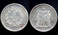 5 FRANCS 1849 A - FRANCE - Hercule (argent / silver) 02