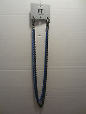 BIKER CHAIN BLACK AND BLUE CHAIN WALLET HOLDER PUNK GOTH ROCK FROM HOT TOPIC