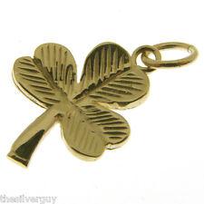 GOLD SHAMROCK CHARM.   HALLMARKED 9 CARAT GOLD IRISH SHAMROCK CHARM