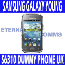 NEW SAMSUNG GALAXY YOUNG S6310 DUMMY DISPLAY PHONE - SILVER - UK SELLER