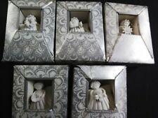 Vtg~Margaret Fulong Angel Angels~Christmas Ornaments Decorations~ Lot Of 5
