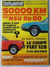 l'auto-journal 7 1972 NSU RO80 FIAT 128 COUPE EAST AFRICAN SAFARI 12H DE SEBRING