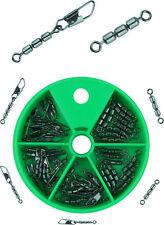 45 Stück Dreifachwirbel Sbirolino Wirbel zum Forellenangeln in Spenderdose