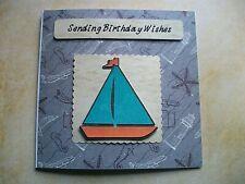Handmade Nautical Birthday Card