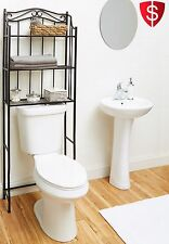Bronze Bathroom Cabinet Over The Toilet Space Saver Rack Shelf Metal Organizer